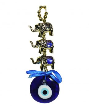 Amuleto Ojo Turco 3 Elefantes