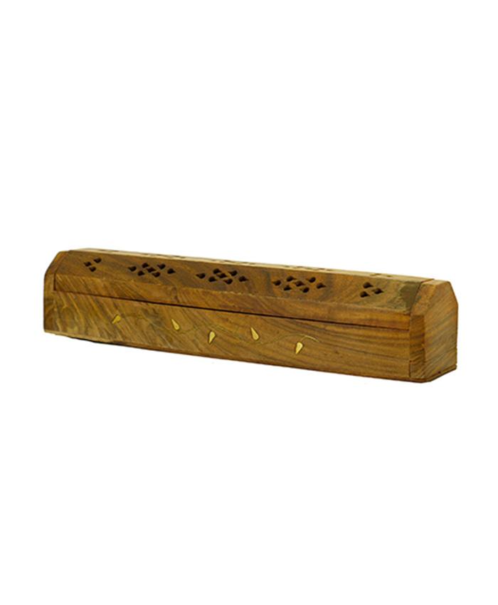 Cofre porta inciensos de madera