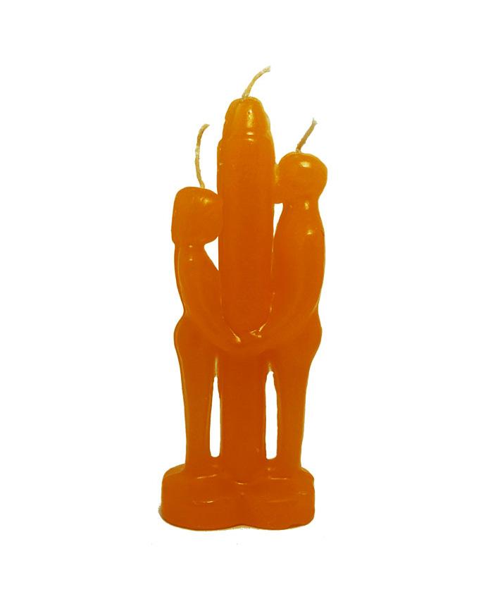 Vela Unión Pareja Naranja