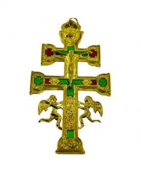 Cruz Caravaca Dorado 16 cm