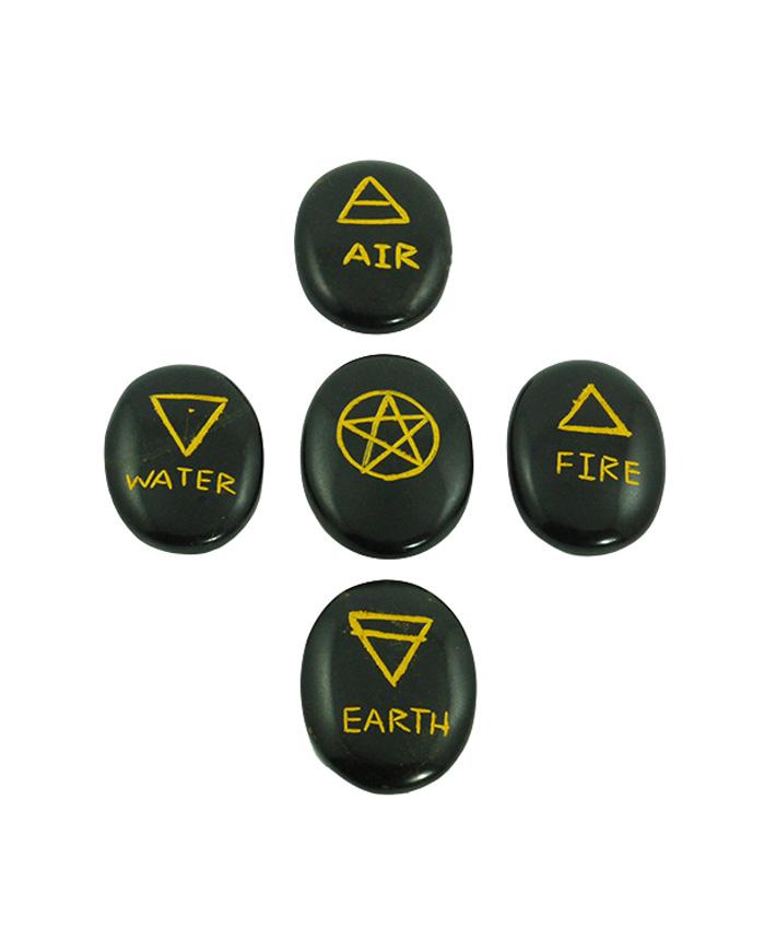 Kit 5 Elementos Agata Negra