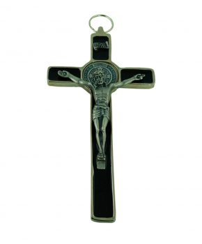 Crucifijo San Benito 18 cm - Negro