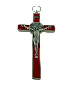 Crucifijo San Benito 18 cm - Rojo