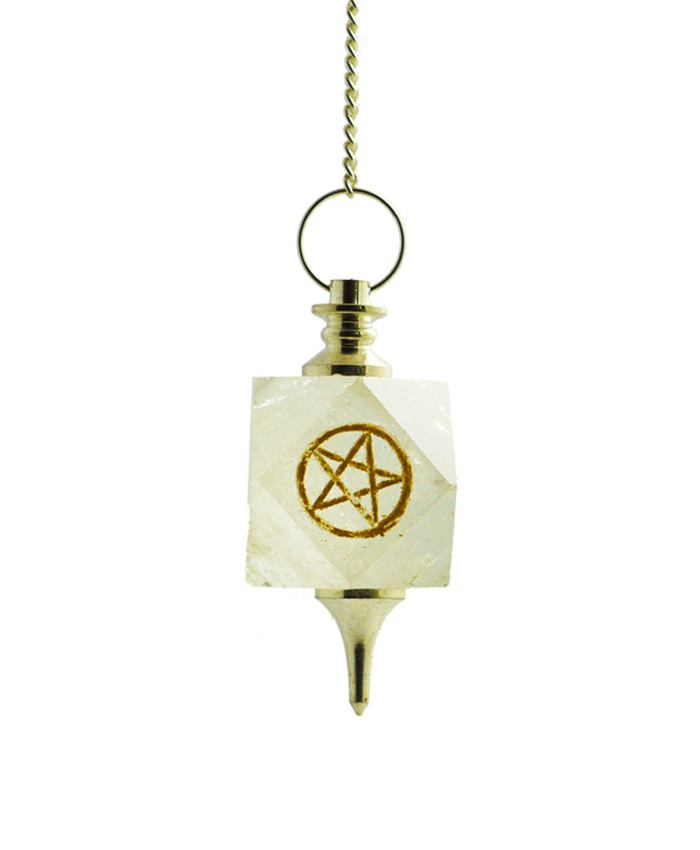 Pendulo Cuarzo Cristal Pentagrama