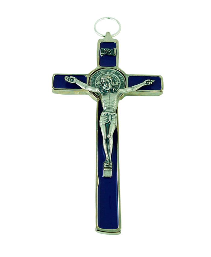 cruz san benito azul 18cm