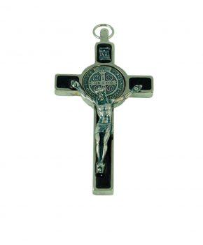 Crucifijo San Benito 7.5 cm - Negro