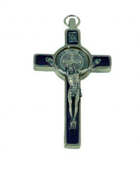 Crucifijo San Benito 7.5 cm - Azul