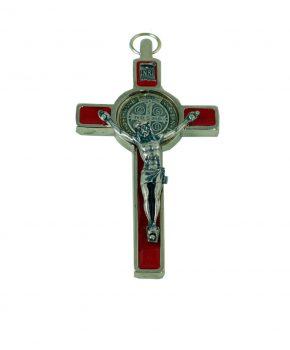 Crucifijo San Benito 7.5 cm - Rojo