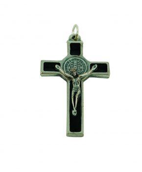 Pendiente Cruz San Benito 5 cm - Negro