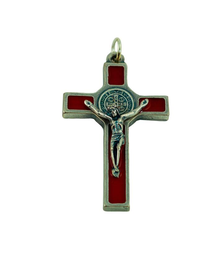 cruz san benito 5cm rojo