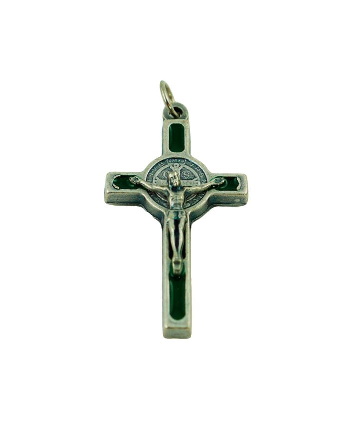 pendiente-cruz-san-benito3.5cm-verde