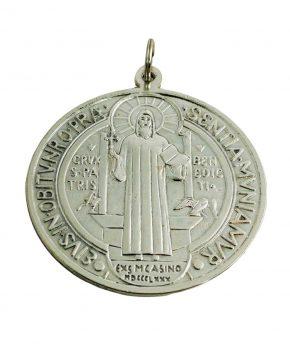 Medallon San Benito Metal 10 cm