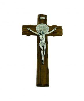 Crucifijo San Benito de Madera 19 cm