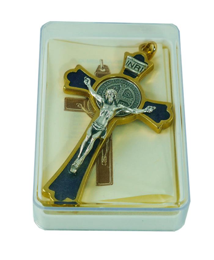 crucifijo-san-benito-oro-azul-7.5cm-caja
