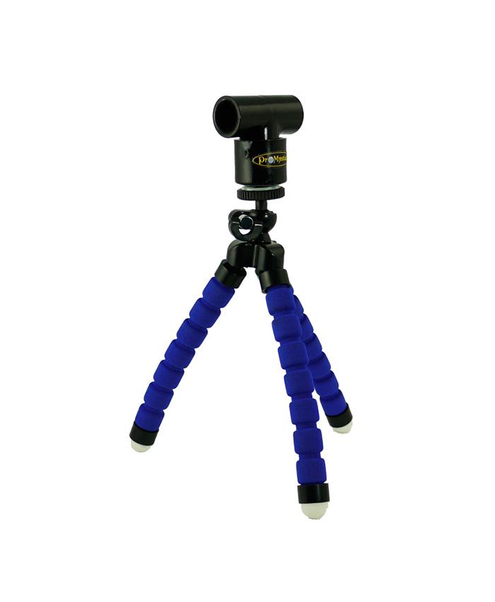 tripode azul y adaptador