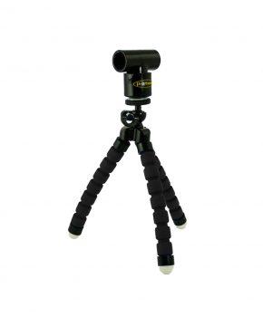 Kit Mini Tripod Negro + Adaptador Laser