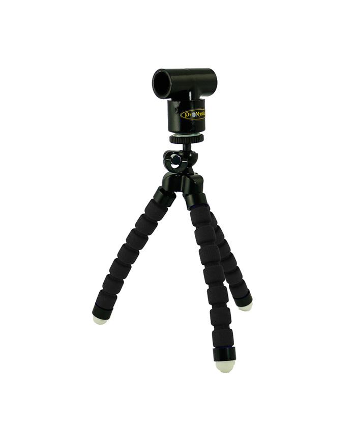 Kit Mini Tripod Negro Adaptador Laser