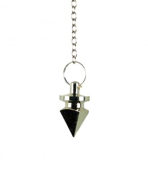 Pendulo Piramide Plateado